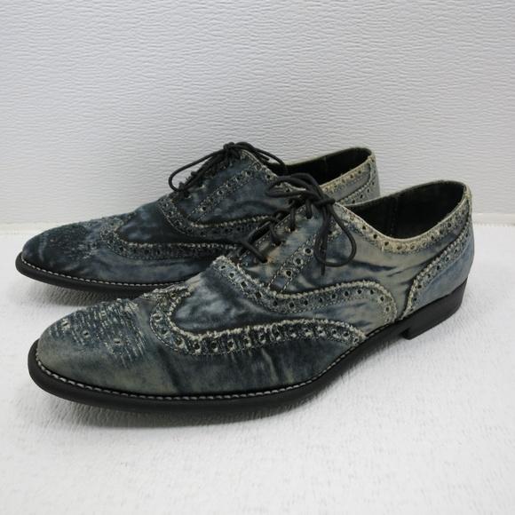 3378c46667 Paul Smith Shoes - Paul Smith Blue Denim Brogue Oxfords 39 Narrow